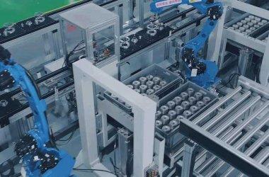 assembly line by robots